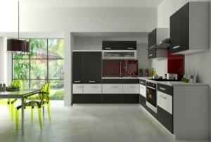 Einbauküche mit Geschirrspüler