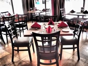 Geschirr im Restauran